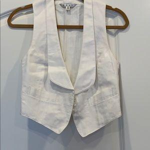 Cabi cropped white vest